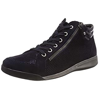 ARA Women's ROM Hi-Top Trainers, Black (Blau,Midnight 21), 6 UK 6 UK