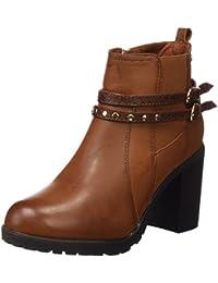 XTI Botin Sra. C. Camel, Zapatos de Tacón con Punta Cerrada para Mujer
