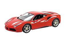 Idea Regalo - Mondo- Ferrari R/C 488 GTB Motors-Macchina radiocomandata Modello 1/14-Auto Gioco per Bimbo-63418, Colore Rosso, Scala 1:14, 63418