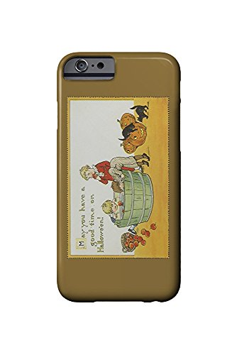 Halloween Scene of Kids Bobbing for Apples (iPhone 6 Cell Phone Case, Slim Barely There)
