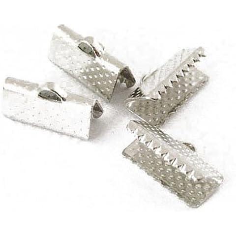 Pacco 50+ Argento Antico Ferro Placcato 7 x 13mm Terminale Fermanastro - (HA02530) - Charming Beads