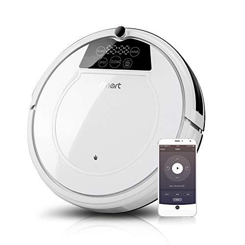 Fmart 1200Pa Robot Aspirador de Limpieza, Carga automática, Limpieza húmeda y Seca, Limpieza automática...