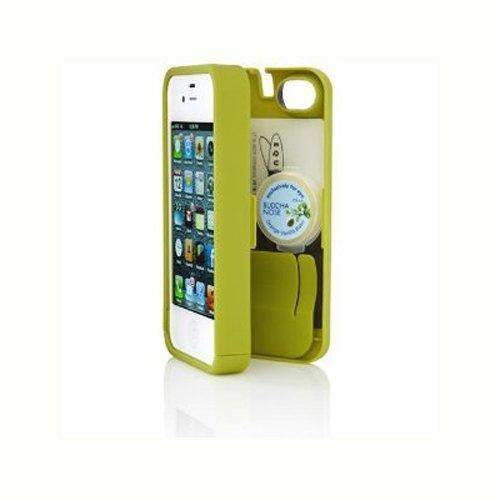 chartreuse-custodia-per-iphone-4-4s-con-spazio-per-carte-di-credito-documenti-denaro