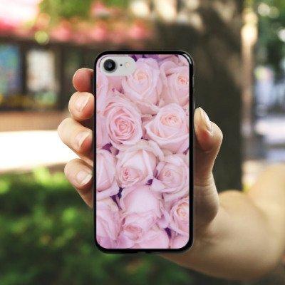 Apple iPhone X Silikon Hülle Case Schutzhülle Rosen Blumen Liebe Hard Case schwarz