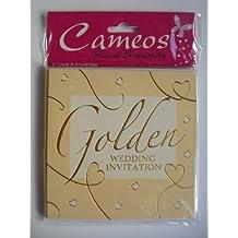 Einladungskarten Inkl. Umschläge Für Die Goldene Hochzeit (50. Jähriges  Jubiläum), ...