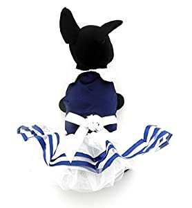 Ranphy Jupe tutu de petit chien chat Princesse Marine Rayures Vêtements pour femelle, Satiné, été Hiérarchisé