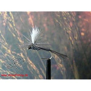 """Trockenfliegen """" Dark Hendrickson Parachute """" 3er Set, Hakengröße 16"""