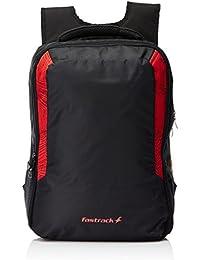 Fastrack Polyester Black Laptop Bag (AC013NBK01AB)