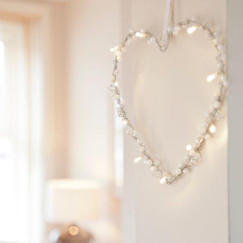 10er LED Lichterherz LED Herz warmweiß batteriebetrieben Lights4fun