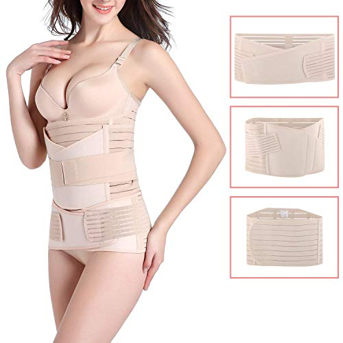 OKPOW Upgraded Version Postpartum Belt Girdle Post Belly Belt After Birth Belly Band Postpartum Support C-section Recovery Belt for Women All Size Waist Pelvis