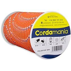 Cordamanía CMDE12CJGZ Cuerda, Naranja, 8 mm