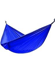 Ohuhu® Tragbare Nylongewebe Hängematte outdoor, Camping Hammock, 292cm lang x 140cm breit, 272kg Kapazität, Blau