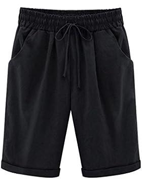 PAOLIAN Pantalones Corta para Mujer Verano 2018 Casual Negocios Pantalones de Vestir Sólido Fiesta Cintura Alta...
