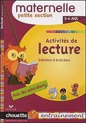 Activités de lecture maternelle petite section : 3-4 ans