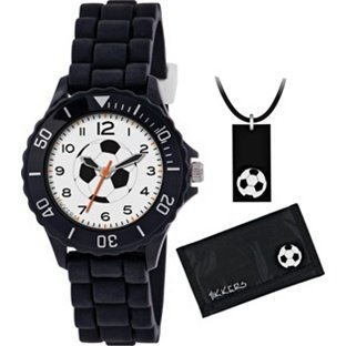 Boy's Tikkers Black Football Watch Set (330949722) Best Price and Cheapest