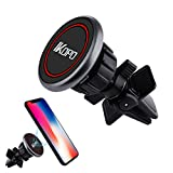 IKOPO Phone Holder for car Air Vent, supporto magnetico per auto adatto per iPhone 7/7 Plus/6s Plus/6s/6, Samsung Galaxy S6 Edge S8 S7 S6 note 5, Nexus 6, smartphone (nero)