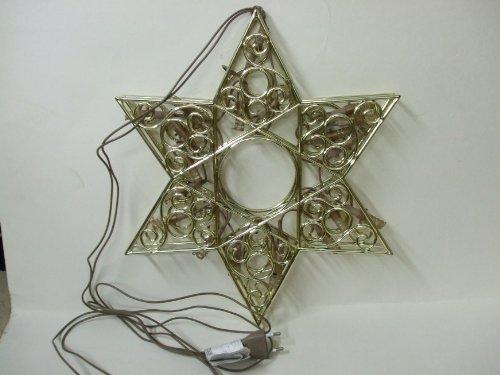 Weihnachts-Deko-Stern mit Beleuchtung, gold 36 cm