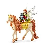 Schleich bayala Fairy Marween with Glitter Unicorn Imaginative Figurine for Kids Ages 5-12