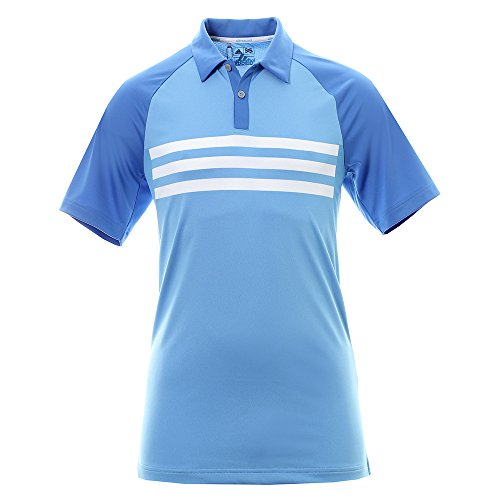 Herren Climacool Polo Golf Shirts (adidas Golf Climacool 3 Stripes Competition Shirt Polo-Shirt, Herren XL blau)