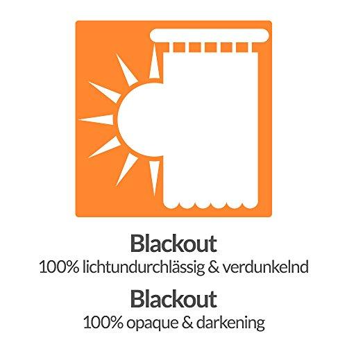 Beautissu Blackout-Vorhang Amelie mit Kräuselband – 140×245 cm Blau – Verdunklungsgardine Universalband Blickdicht - 6
