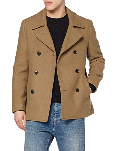 Find. Wool Mix Smart Abrigo, Marrón Brown, 48 Talla del Fabricante: Small
