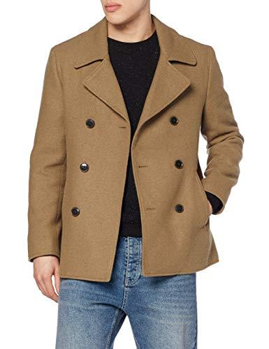 Find. Wool Mix Smart Abrigo, Marrón Brown, 52 Talla del Fabricante: Large