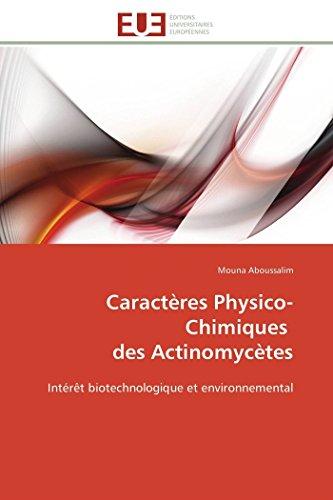 Caractères physico-chimiques des actinomycètes