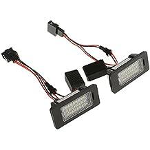 MagiDeal 2pcs LED 24 SMD Luces de Matrícula Lámpara de Placa Libre de Error Piezas para AUDI A4 B8 S4 A5 S5 Q5