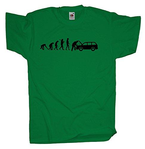 Ma2ca - Evolution - KFZ-Meister - Herren T-Shirt | Reparatur-kelly-xl