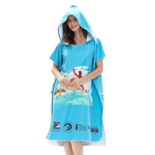 597520c74be LPATTERN Toalla de Playa Poncho para Cambiarse de Ropa Albornoz Toalla de  baño con Capucha para