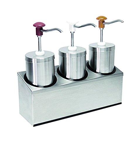 Dispensador de salsa (3) con por 2,25litros de capacidad