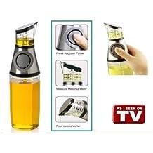 Ducomi® Press & Measure Dispensador de aceite y vinagre con Dosificador para medir I aliños
