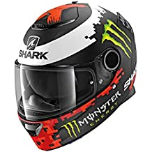 Shark Casco integral Spartan Replica Lorenzo Monster 2018 negro rojo verde KRG mate talla L