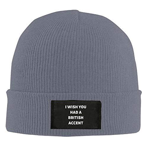 9322998e56b4c8 I Wish I Had A British Accent New Winter Hats Knitted Twist Cap Thick  Beanie Hat