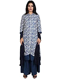 Vastra Vinod Women's Cotton Straight Salwar Suit Set