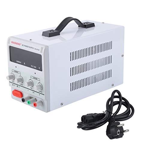 Tree-on-Life 5A 0-30V Fuente de alimentación de CC Regulable Ajustable precisión Digital Variable con Clip para centros de reparación de Prueba Laboratorio Escolar Enchufe de la UE