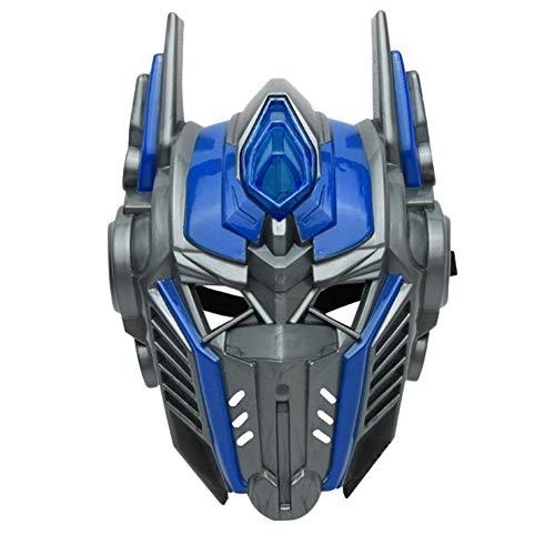 Qualität Hohe Kostüm - VAWAA Erwachsene Kinder Bevorzugen Beleuchtung Led Optimus Prime Maske Cosplay Kostüm Huang Feng Maskerade Masken Party Hohe Qualität