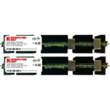 Komputerbay KB_4GB_2X2GB_667_FBDIMM_MAC_HS - Módulos de memoria FB-DIMM (240 pines) 4GB (2x 2GB) (DDR2, PC2-5300F, 667 MHz, CL5 ECC, Búfer Completo 2Rx4) con disipadores de calor para ordenadores Apple