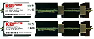 Komputerbay 4GB (2x 2GB) DDR2 PC2-5300F 667MHz CL5 ECC Fully Buffered 2Rx4 FB-DIMM (240 PIN) w/ Heatspreaders for Apple computers