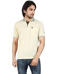 Basilio Men's Polo Neck Solid T-Shirt