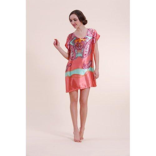 BOYANN Vestaglie e Kimono Fiore di Paisley Pigiami e Camicie da Notte Donna Modello 20