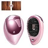 Tragbare elektrische ionische Haarbürste Takeout Mini Haarbürste Kamm elektrische Schallwelle Vibration magnetische kleine Massage Kamm Ionic Hair Straightener Brush