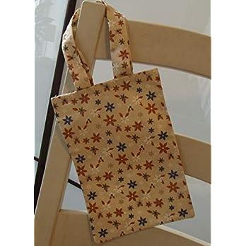 Einkaufsbeutel klein Beutel Einkaufstasche Mini Stoffbeutel Frauen Damen Blumen geblümt beige Blümchen schlicht
