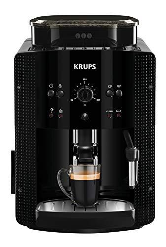 Krups Roma EA81M8 Macchina per caffè espresso super automatica, con caraffa per latte, 1,7 l, 3 livelli di temperatura, 3 texture di macinazione, nero