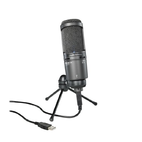 Audio-Technica AT2020USB - Micrófono (Studio, 20-20000 Hz, Cardioid, Alámbrico, 3,1m, 374g) Negro