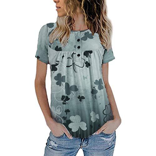 WOZOW Kurzarm Shirt Herren Geometric Mechanical Muster Print Druck for Ironman Bluse Solid O Ausschnitt Loose Lose Comfy Casual T-Shirts Oberteile Tops ()