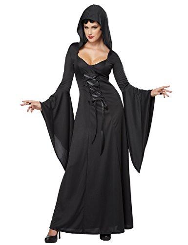 Generique - Dämonisches Hexen-Kostüm für Damen Halloween Vampirin schwarz XL (44/46)