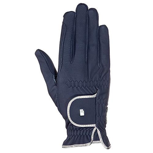Roeckl Sports Damen Handschuh Lona, Damenreithandschuh, Navy/Silber, 8