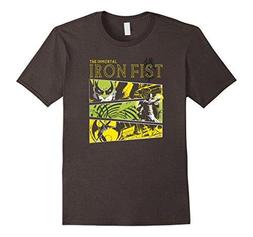 Men's Immortal Iron Fist Panels Graphic T-Shirt 3XL Asphalt Green Dragon Kung Fu
