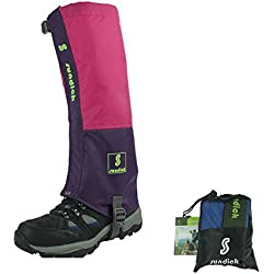 Polainas de montaña Sundick para nieve y a prueba de polillas. Polainas de legging transpirables para la nieve. Polainas de legging impermeables, Rose red-purple